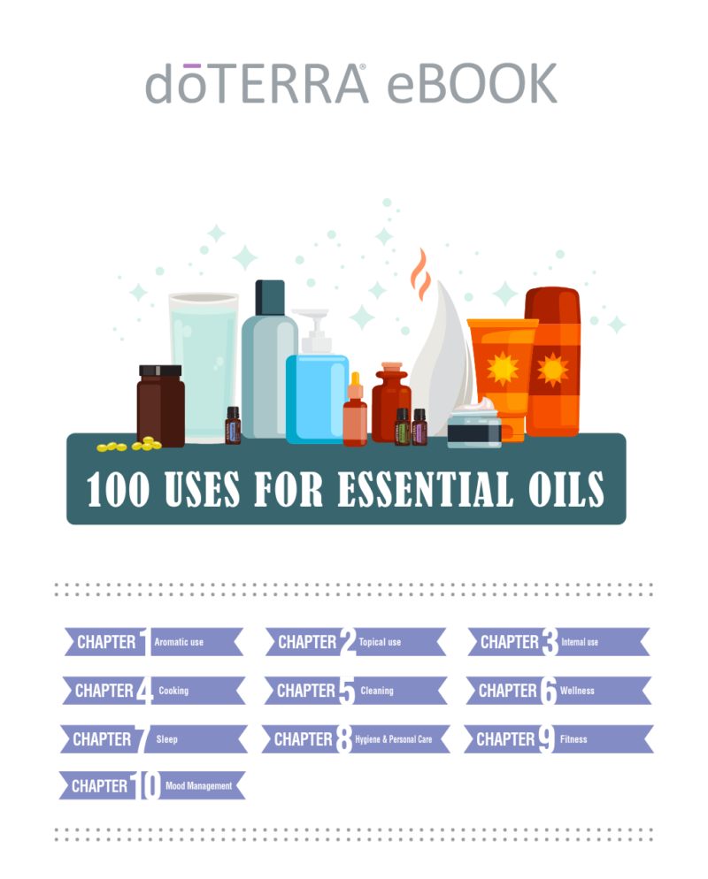 cover Page For The E-Book doTERRA 100 Uses For Essential Oils
