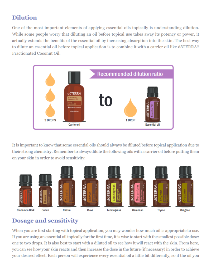 Content Page Coconut Oil For The E-Book doTERRA 100 Uses For Essential Oils