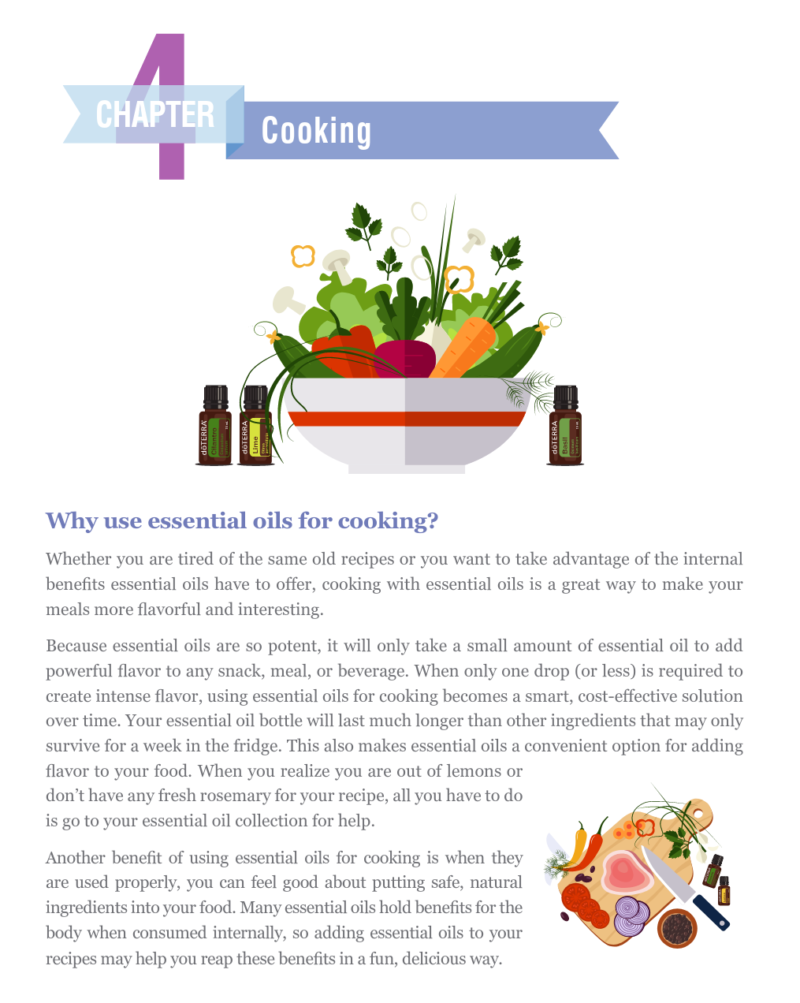 Content Page Picture Of A Salad For The E-Book doTERRA 100 Uses For Essential Oils