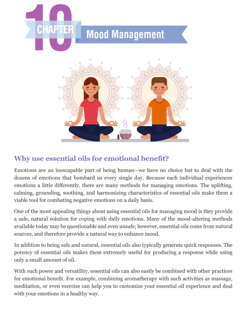 Content Page Mood And Meditation For The E-Book doTERRA 100 Uses For Essential Oils